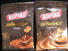 2 packs x 27g Kopiko real coffee and cappuccino candy sweets strong hard candy