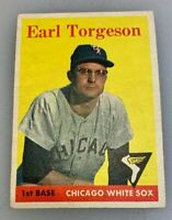 1958 Topps # 138 Earl Torgeson Baseball Card Chicago White Sox