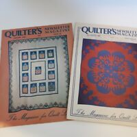 Quilters Newsletter Magazine 2 issues January 1980 July/August 1982 has writing