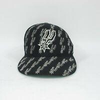 San Antonio Spurs NBA Hat Cap Baseball Hat Black, Size 7 1/8