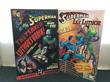 Superman vs.  Lex Luthor  /  They Saved Luthor's Brain (Hard to Find) 2 Books