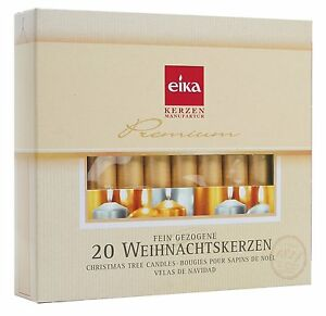 """Eika Golden Christmas Tree Candles - Gold - 4"""" - Made in Germany - (Set of 20)"""