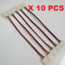 10pcs LED Strips PCB with wire Double End Connector Adapter for 5050 LED Strip
