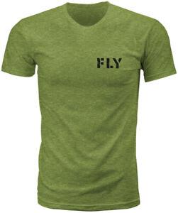 Fly Racing Men's Military Tee T-Shirt (Military Green Heather) XXL