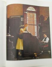 Vintage Norman Rockwell print  Marriage License man & woman at City Hall 16x11