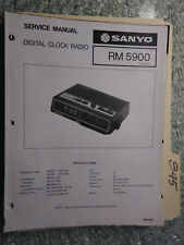Sanyo RM 5900 service manual original repair book am fm digital clock radio