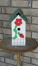 New listing Handcrafted Decorative Lady Bug Birdhouse with floral Decor