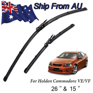 Front Windscreen Wiper Blades For Holden Commodore VE VF 2006 on (L+R) Rubber
