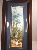 FRAMED Original Watercolor Painting Signed by Judy Hartsfield
