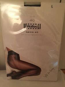 Wolford Neon 40 Tights/Pantyhose ADMIRAL Size LARGE perfect condition