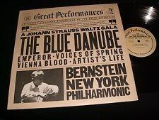 STRAUSS°BLUE DANUBE<>BERNSTEIN<>Lp VINYL~USA Pressing~CBS 37771