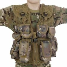 NEW Kids Army All Terrain Camo Assault Vest  Fits Ages 5 13 Yrs FREE SHIPPING