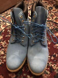 Timberland Primaloft Men's 11.5 Blue Suede Boots