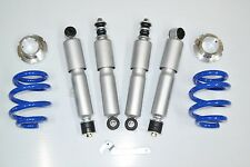 SILVER COILOVER SUSPENSION KIT 2 SPRINGS 4 SHOCK ABSORBERS VW T4 TRANSPORTER