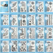 10 Sheets Wholesale Lot Large Black Henna Lace Temporary Tattoo Body Sticker