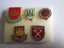 j1 lotto 5 pins lot WEST HAM FC club spilla football calcio badge spille