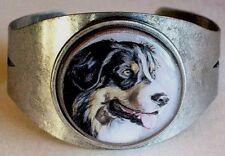 Australian Shepherd (Aussie) original art cuff bracelet