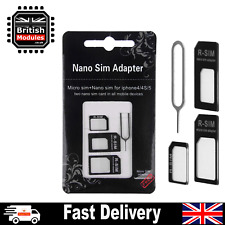 4 in 1 Nano Micro SIM Card Adapter Converter Eject Pin Set for iPhone Samsung