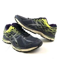 Asics Mens Gel Cumulus 17 Purple Yellow Athletic Running Shoes T5D3N Size 8.5