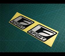 2 Pics Lexus F SPORT IS250 IS350 performance JDM Car Reflective decal sticker