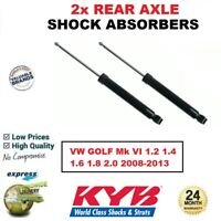 2x KYB REAR AXLE SHOCK ABSORBERS for VW GOLF Mk VI 1.2 1.4 1.6 1.8 2.0 2008-2013