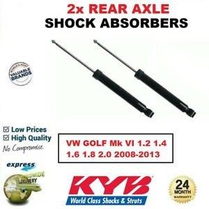 2x KYB REAR AXLE SHOCK ABSORBERS for VW GOLF Mk VI 1.2 1.4 1.6 1.8 2.0 2008-2013