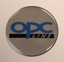 OPC Línea STICKER/DECAL - 42mm de diámetro acabado de alto brillo abovedado Gel Opel/Vauxhall