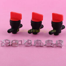 3x 1/4 Gas Fuel Cut off Valves Shutoff For Briggs Stratton Snapper John Deere