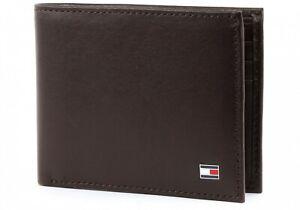 TOMMY HILFIGER Eton Mini CC Wallet Braun Brown Geldbörse Portemonnaie Herren Neu