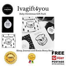 Baby sleep Journal & Koala Board Book Little & Sleepy newborn new mum baby gift