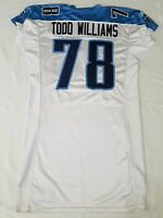 #78 Todd Williams of Tennessee Titans NFL Locker Room Issued Player Worn Jersey