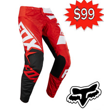FOX Motocross Pants NEW Honda Red Fox Sayak 180 MX dirt bike ATV rrp $189