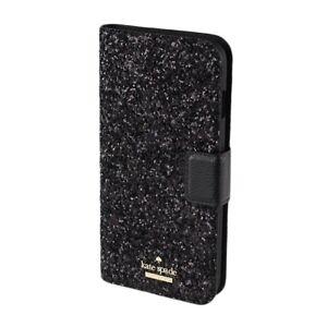 Kate Spade New York 256545 Woman Glitter Wrap Black iPhone 7/8 Plus Folio Case