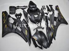 Matte Black Gold Sticker ABS Injection Mold Fairing Kit Fit for YZF R6 2006 2007