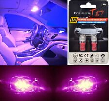 LED 5050 Light Pink 30000K 168 Two Bulbs Front Side Marker Parking Replace OE