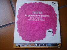 """7""""  MINA BUGIARDO E INCOSCIENTE UNA MEZZA DOZZINA DI ROSE COVER EX++ VINILE EX"""