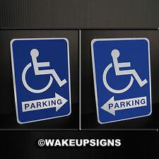 "Handicap SIGNS ALUMINUM METAL STREET TAFFIC 7"" X 10"" PARKING WHEEEL CHAIR ACCESS"