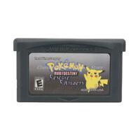 Pokemon Ruby Destiny Rescue Rangers GBA Game Boy Advance Cartridge