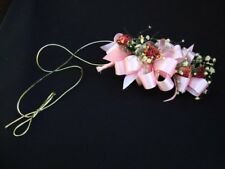 Vintage Dry Flower Bridal Bouquet Wrist Bouquet Vintage Wedding Pink Ribbon