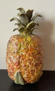 Deko – Obst – Alabaster – 1 Ananas – naturgetreu – Handarbeit