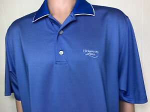 FootJoy Men Polo Shirt Light Blue L Hideaway Lake Texas Golf Embroidred
