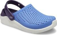 Crocs 205964 LITERIDE Kids Boys Girl Light Summer Clogs Sandals Lapis/Mulberry
