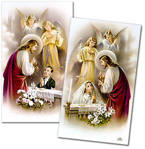 Personalized First Holy Communion Laminated Remembrance Prayer Cards Set of 24