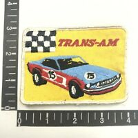 Vtg Embroidered Twill TRANS-AM Race Car #15 Auto Racing Patch 00SP