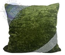 cushions cushion covers Set Of 4 Large Diamante Lace/Cross Lace crush velvet