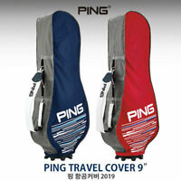 "PING Travel Cover 9"" 2Colors Navy Red Fabric Golf Bag Cover_NK"