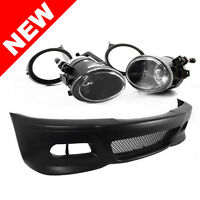 BMW E46 3-SERIES M3 STYLE FRONT BUMPER W/ CLEAR FOG LIGHTS