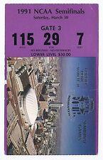 1991 NCAA FInal Four Semi Finals Ticket Stub UNLV North Carolina Kansas Duke