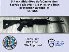 5 Pack Lot 7.5mil ShieldPro SafeCache Gun Storage Protection Sleeve Bag 11