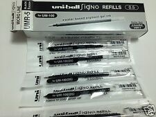 12pcs Uni-ball Signo UMR-5 Gel Pen Refill Black for (UM-100 0.5mm)